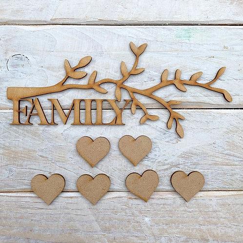 MDF Tree Branch Kit Family 20cm