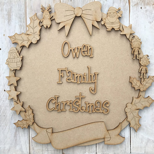 MDF Christmas Ring Layered Kit Characters