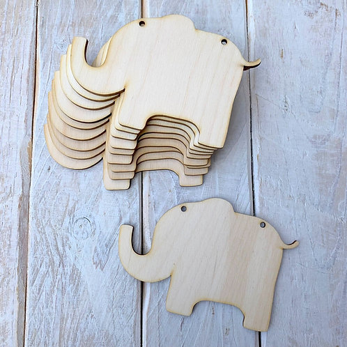 10 Pack Bunting Elephant