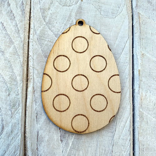Plywood Easter Egg 10 Pack