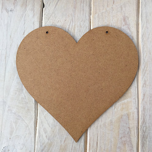 MDF Heart Shape Plaque