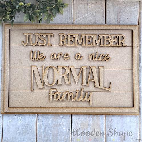 30cm MDF Sign Kit Normal Family RLI