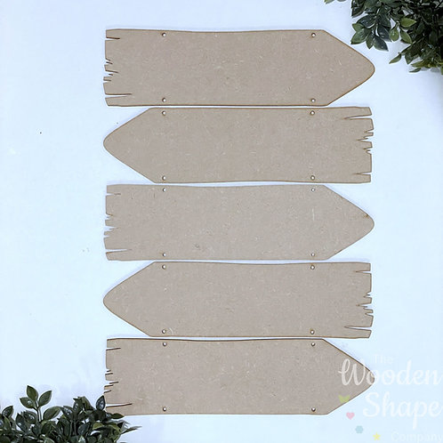 5 Pack Direction Sign Blanks