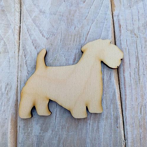 Plywood Sealwhyham Terrier Dog Shape 10 PACK