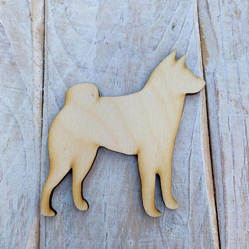 Plywood Huskie Dog Shape 10 PACK