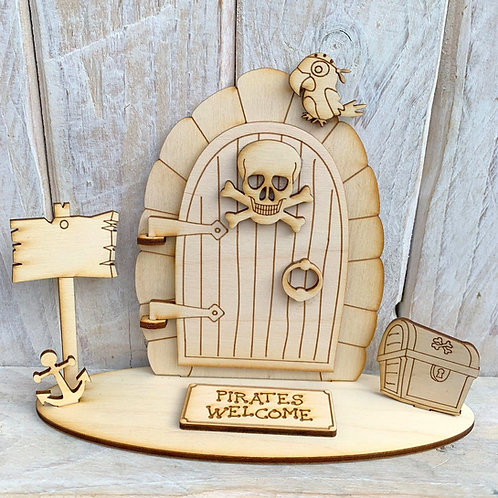 Opening Stand Fairy Door Pirates Welcome