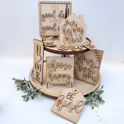Home Theme Tiered Tray Kit