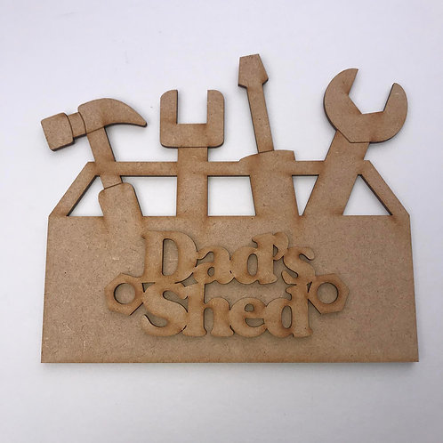 MDF Fathers Day Tool Box Shed Plaque