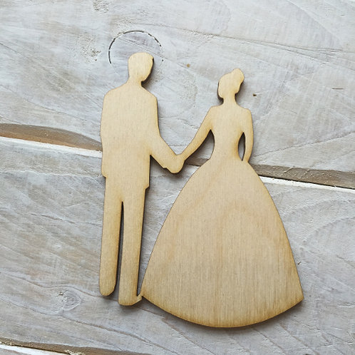 Plywood BRIDE & GROOM HANDS Shape 10 PACK