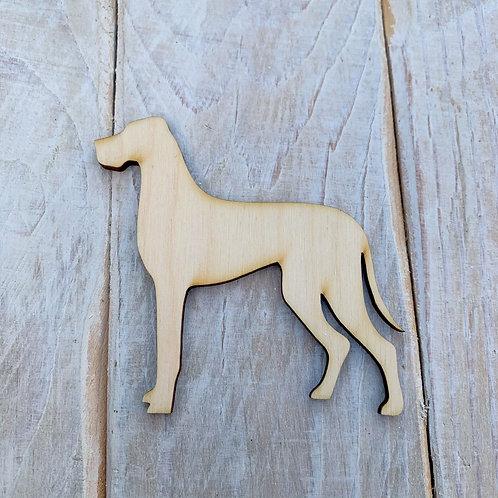 Plywood Great Dane Dog Shape 10 PACK