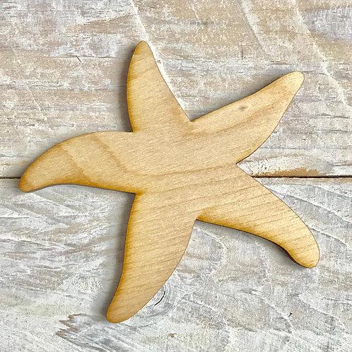 Plywood Star Fish 10 Pack