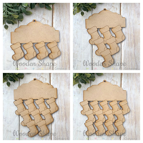 MDF Tree Decoration Hanging Stockings