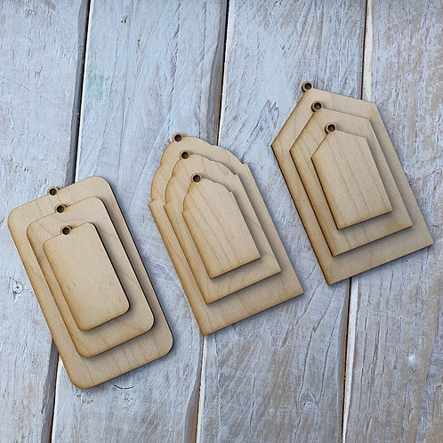 Plywood Gift Tags 10 Pack