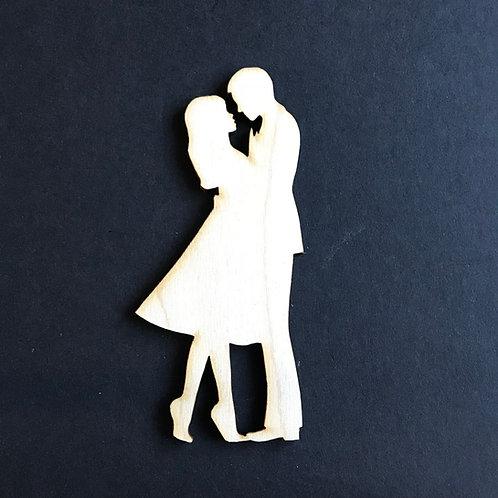 Plywood BRIDE & GROOM LOOK Shape 10 PACK