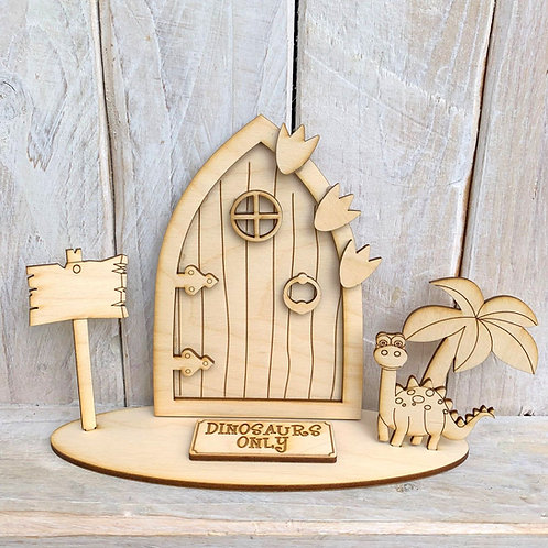 Fairy Door on Stand Dinosaurs Only