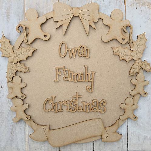 MDF Christmas Ring Layered Kit Ginger Family