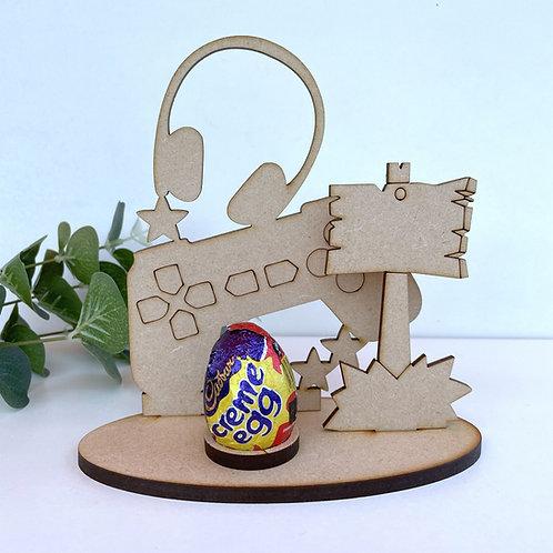 MDF Easter Egg Holder Stand Creme/Kinder Egg Gamer