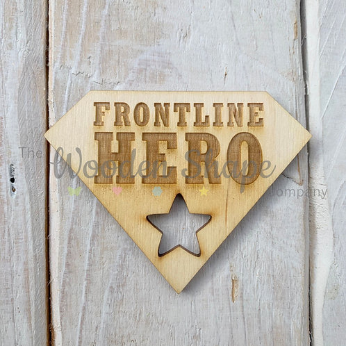 Plywood Engraved Frontline Hero Token 5 Pack