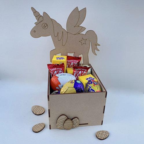 MDF Easter Fillable Treat Box Unicorn