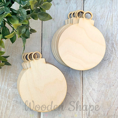 10 Pack Birch Plywood Christmas Tags Baubles