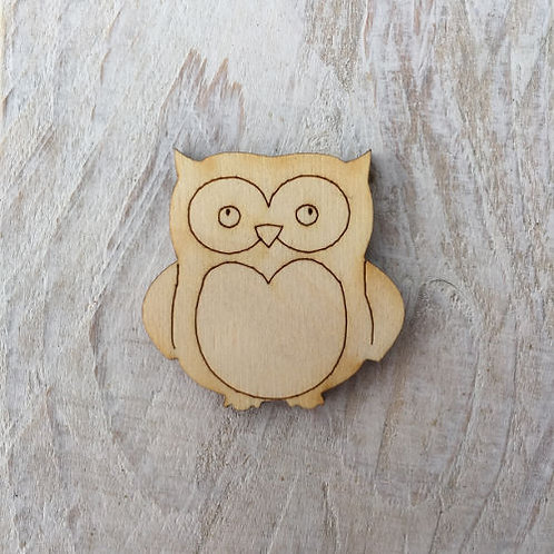 12 Pack Wooden Owl Fairy Door Accessory