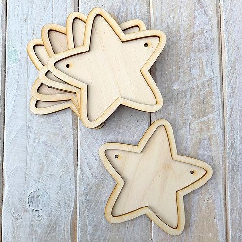 10 Pack Bunting Frame Star