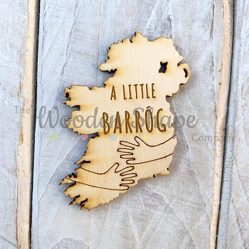 Plywood Engraved Ireland Hug A Little Barrog Hug 5 Pack