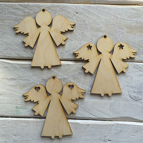 10 Pack Christmas Decorations Angel