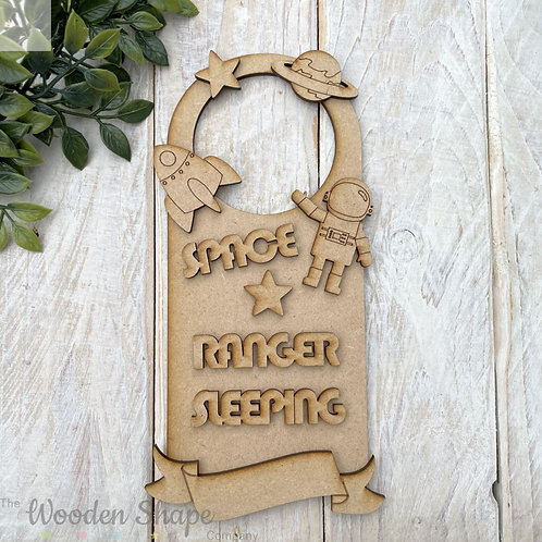 Door Hanger Layered Space Ranger