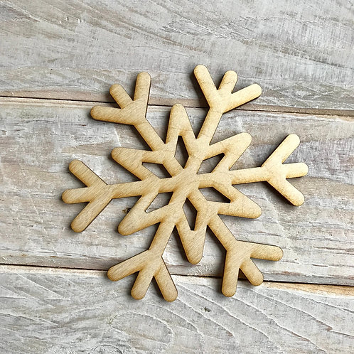 Plywood Snowflake 10 Pack