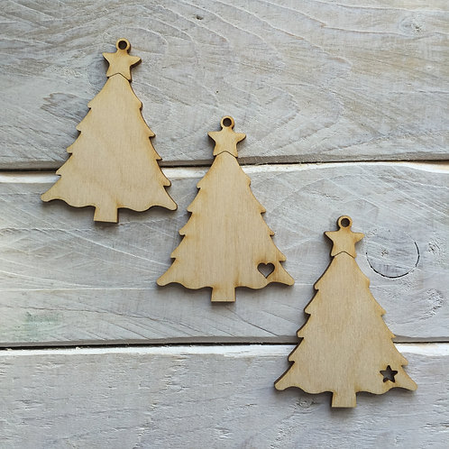 10 Pack Christmas Decorations Tree 01
