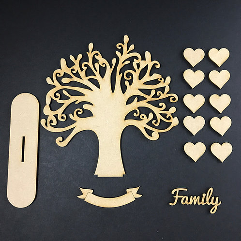 MDF Wooden Tree Code Round Stand Kit