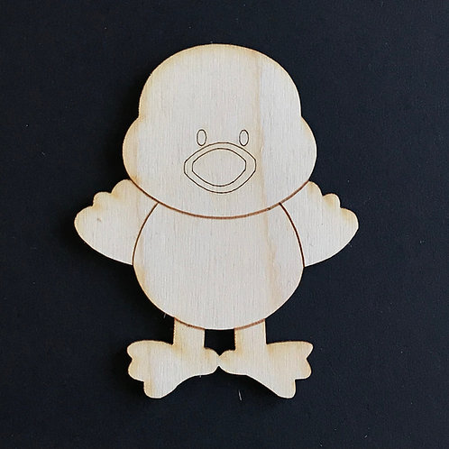 Plywood 10 Pack Shape Easter Chick