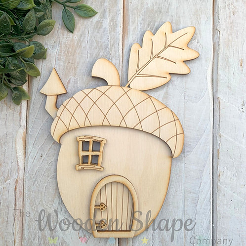Plywood Wooden Fairy Door Kit Acorn