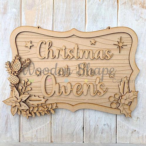 Layered Christmas Ornate Christmas at the Sign