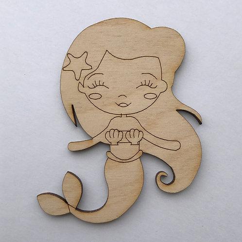 Plywood Mermaid Shape 10 PACK