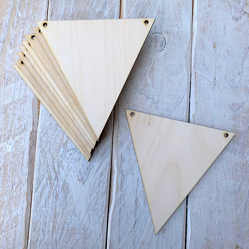 10 Pack Bunting Triangles