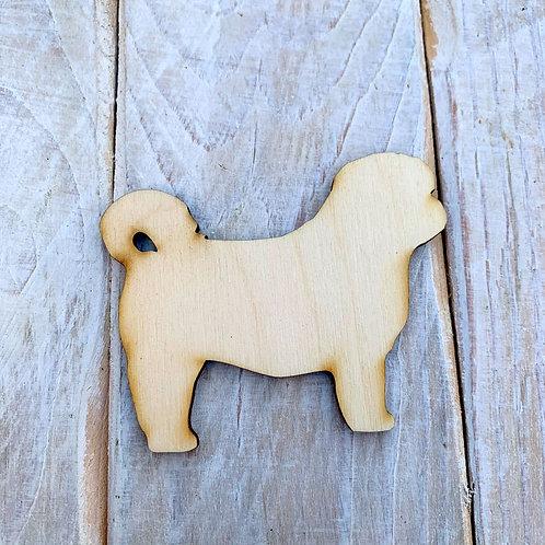 Plywood Shitzu Dog Shape 10 PACK