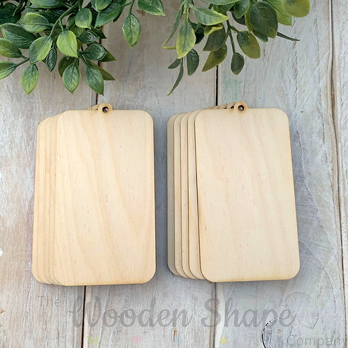 10 Pack Birch Plywood Gift Tags Rectangle