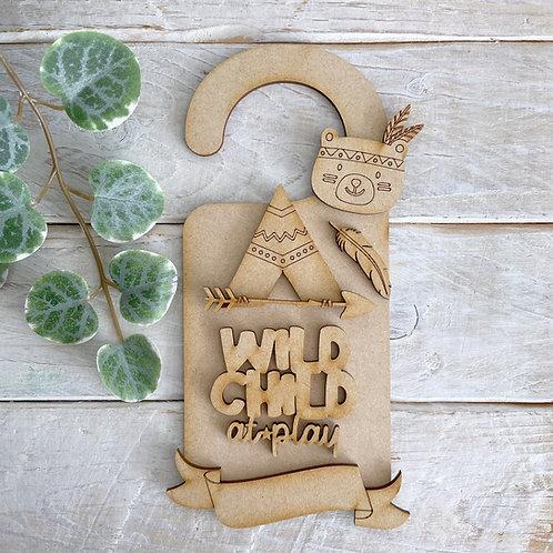 Door Hanger Layered BOHO Wild Child