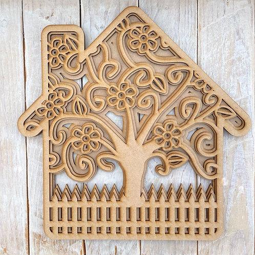 Multi Layered MDF Family Tree House Fence