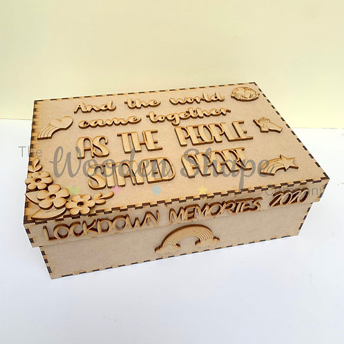 MDF Build Your Own Lockdown Memories S1 Memory Box