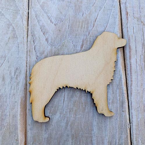 Plywood Australian Shepard Dog Shape 10 PACK