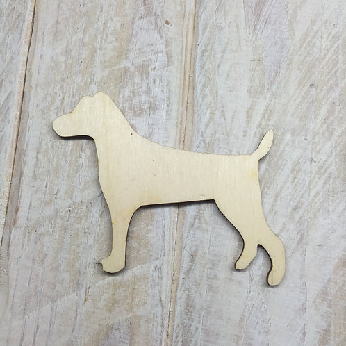 Plywood Jack Russell Dog Shape 10 PACK