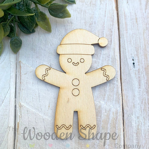 Plywood Shapes Gingerbread Boy with Detail  10 Pack