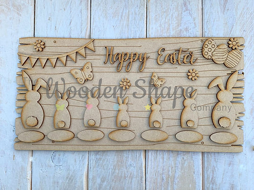 MDF Easter Family Bunny Plaque Kit