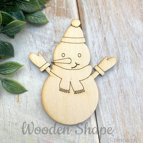 Plywood Shapes Snowman with Detail  10 Pack