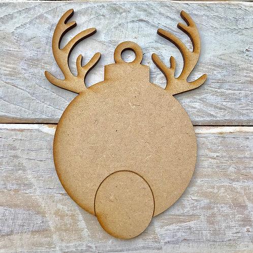 5 Pack MDF Reindeer Antler Bauble