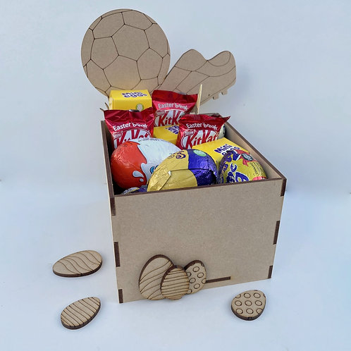 MDF Easter Fillable Treat Box Football