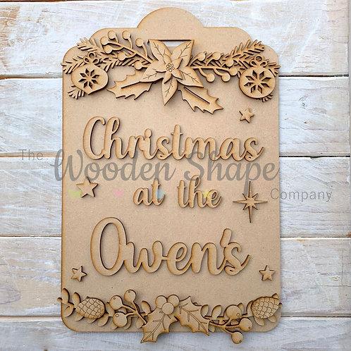 Layered Christmas Tag Christmas at the Sign